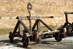 Ancient catapult Royalty Free Stock Photos