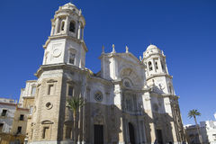 Ancient Cathedral on Cadiz. Royalty Free Stock Photo