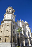 Ancient Cathedral on Cadiz. Royalty Free Stock Photos