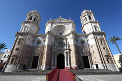 Ancient Cathedral in Cadiz, Spain Stock Image