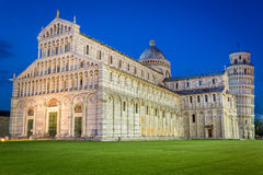 Ancient cathedral in Pisa at night Stock Photo