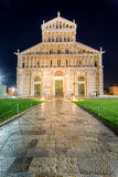 Ancient cathedral in Pisa at night Stock Images