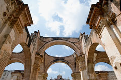 Ancient cathedral ruins Stock Photography