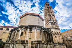 Ancient cathedral in Split, Croatia. Royalty Free Stock Photos