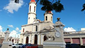 Ancient Catholic Cathedral in Cuba Royalty Free Stock Images