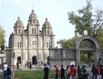 Ancient catholic church Stock Photo