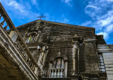 Ancient Catholic Church in Meycauayan, Bulacan, Philippines stock photo