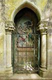 Ancient catholic shrine, Rocamadour, France. A photograph of a small old shrine along the way of the pilgrimage to the holy town of Rocamadour, the most popular Stock Photos