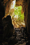 Ancient cave and access stairs, Cambodia Stock Images