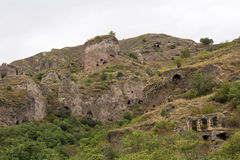 Ancient cave city of Khndzoresk. The cave city of Khndzoresk in Armenia Royalty Free Stock Photos