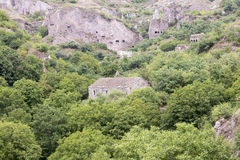Ancient cave city of Khndzoresk. The cave city of Khndzoresk in Armenia Stock Photography