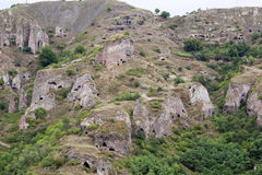 Ancient cave city of Khndzoresk. The cave city of Khndzoresk in Armenia Stock Image