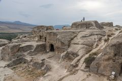 Ancient cave city of Uplistsikhe, Georgia royalty free stock photography