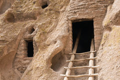 Ancient cave dwelling Royalty Free Stock Images