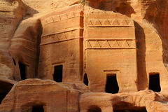 Ancient cave dwellings and ruins of the Bedouin   Stock Photography