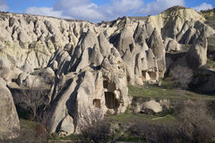 Ancient cave dwellings in the surrounding area of Goreme. Cappadocia Stock Image