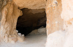 Ancient cave entrance. Royalty Free Stock Photography