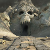 Ancient cave of horror Royalty Free Stock Images