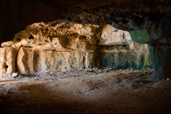 Ancient cave interior. Stock Image