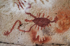 Ancient Cave Paintings. In patagonia stock photos