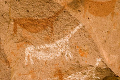 Ancient cave paintings in Patagonia Stock Images
