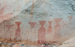 Ancient Cave Paintings in Thailand. Royalty Free Stock Image