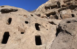 Ancient cave settlement Stock Image