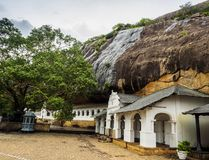 The ancient cave temple complex of Sri Lanka Royalty Free Stock Image