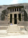 Ancient cave temple. Its photo of Buddha's Ancient cave temple. Place - Kanheri caves, Mumbai, India stock photography
