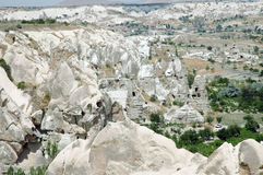 Ancient cave-town in Goreme, Turkey Stock Images