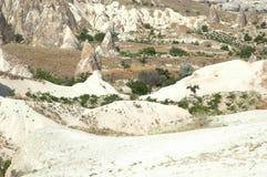 Ancient cave-town near Goreme, Turkey Royalty Free Stock Photo