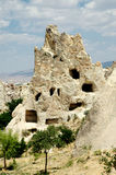 Ancient cave-town near Goreme, Turkey Royalty Free Stock Photos