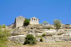 Ancient cave towns of Crimea.Chufut-Kale Stock Photography