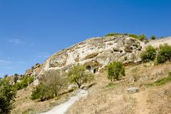 Ancient cave towns of Crimea.Chufut-Kale Stock Image