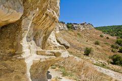 Ancient cave towns of Crimea.Chufut-Kale Stock Photo