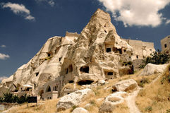Ancient Cavetown Near Goreme, Cappadocia, Turkey Royalty Free Stock Photos
