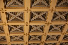 Ancient ceiling with caissons Royalty Free Stock Photography