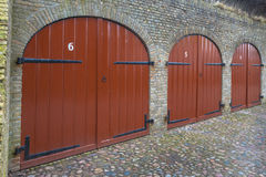 Ancient Cellar Doors Stock Photo