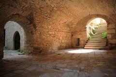 Ancient cellar in Istria, Croatia. Historic cellar in Krsan, Istria, Croatia stock photography