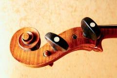 Ancient cello fragment stock photos