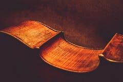 Ancient cello fragment royalty free stock photos