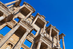 Ancient Celsius Library in Ephesus Turkey Stock Photo