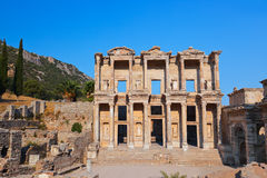 Ancient Celsius Library in Ephesus Turkey Royalty Free Stock Images