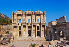 Ancient Celsius Library in Ephesus Turkey Royalty Free Stock Photos