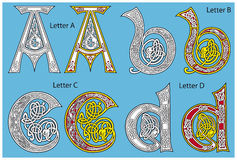 Ancient Celtic alphabet royalty free illustration