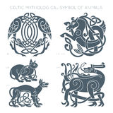 Ancient celtic mythological symbol of animals. Vector illustrati. Ancient celtic mythological symbol of animals. Vector knot ornament Vector Illustration