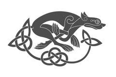 Ancient celtic mythological symbol of wolf, dog, beast Royalty Free Stock Photography