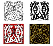 Ancient celtic ornament with wild animals Stock Images