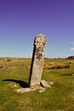 Ancient celtic standing stone in Bodmin moor, England Royalty Free Stock Photography