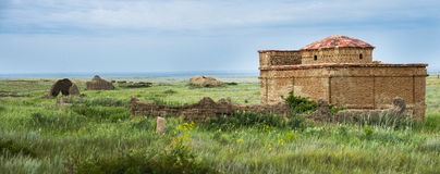 Ancient cemetery on the archaeological monument Terekty-Aulie Stock Photography
